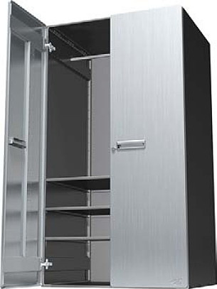 Hercke 30W X 24D X 54H Lower Storage Cabinet   Stainless Steel Or Powder  Coat. View Images
