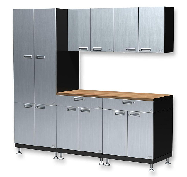 hercke cabinets - stainless steel & powder coated metal