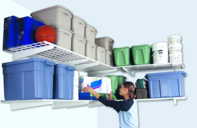 hyloft 00631 garage shelf 24 x 48. Black Bedroom Furniture Sets. Home Design Ideas