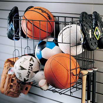Organized Living   Schulte 7115 5070 50 Multi Sports Rack U0026 Basket