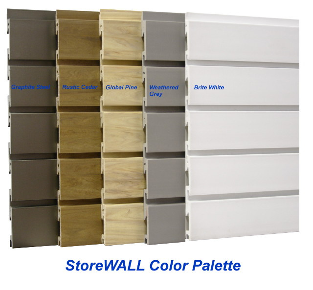 Storewall Pvc Heavy Duty Slatwall Panels And Accessories