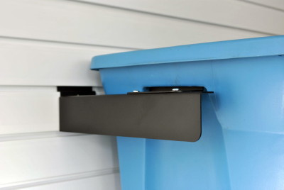 Adjustable Tote Recycle Storage Bin Brackets For Slatwall