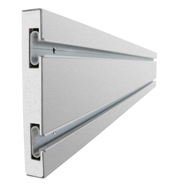 Panel Aluminium Strip : Ulti mate brushed stainless steel slatwall strip