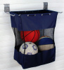 "storeWALL Large Grab and Go Bag with (2) 12"" Hooks - 24""H x 18""W x 12""D"