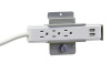 Slatwall Mount Power Strip with 3 AC Outlets & 2 USB Charge Ports