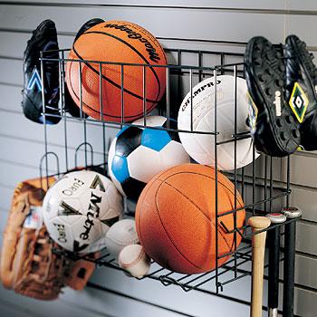 Organized Living Schulte 7115 5070 50 Multi Sports Rack Basket