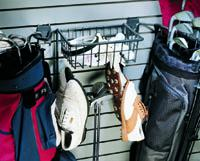 Golf Bag Holder & Basket