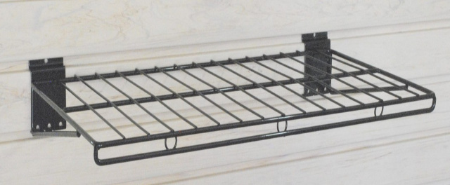 "Slatwall Wire Shelf - Large - 24""w x 12""d  - PACK OF TWO SHELVES"